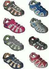 Jungen Mädchen Trekking-Sandale Freizeit Schuhe Sandalette NEU Lederinnensohle