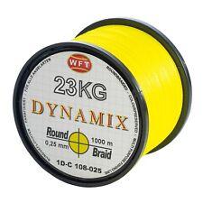0,15€//m WFT Plasma Yellow rund geflochtene Angelschnur 150m Farbecht Meeressch