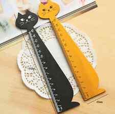 Wooden Wood Cool Cat Ruler - Brown or Black