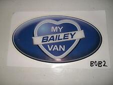 Bailey oval badge for caravan dent cover ups decal sticker BOB2