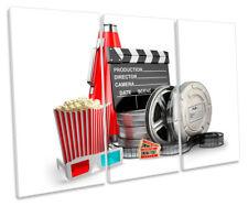Film Reel Cinema Room Picture TREBLE CANVAS WALL ART Print