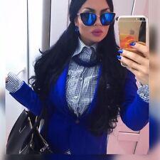 DE Girl Cat Eye Mirrored Reflective Lenses RONETTE Metal Frame Women Sunglasses