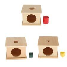Montessori Imbucare Box Color Shape Matching Game Infant Development Toy