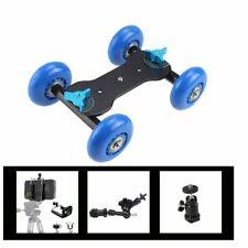 Desktop DSLR Camera Video Wheels Rail Rolling Track Slider Dolly Car Skate Glide