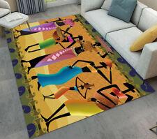 Abstract African Women Bedroom Soft Carpet Anti-skid Area Rug Room Floor Mat