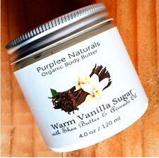 Natural Organic Body Butter & Facial Cream {WARM VANILLA SUGAR}Dry Skin w/ M