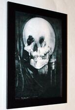 framed Skull canvas print Charles Allan Gilbert 6.8X8.8&10X13.6 vintage poster