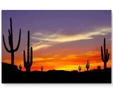Der Wilde Westen – Sonnenuntergang - Leinwandbild