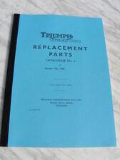 new ERSATZTEILE BUCH TRIUMPH CUB T20 T20C-1959 katalog nr. 5 referenz manual