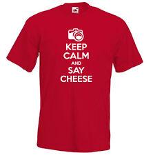 Keep Calm y decir queso llevar en el fotógrafo Gracioso Para Hombre Para Mujer T-shirt regalo
