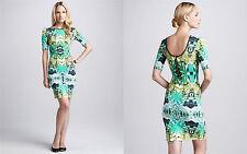 Sam & Lavi Sao Paulo Dress Paradise Print Jersey Green Formfiting Printed Pointe