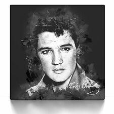 Elvis Presley Street Art, Poster, Leinwand Bild auf Keilrahmen modern abstrakt