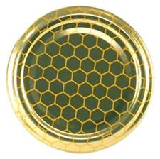 Tappi capsule coperchi modello alveare per vasetti vetro miele apicoltura pz 100