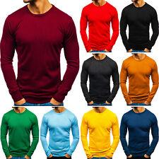 Pullover Sweater Strickpullover Feinstrick Basic Men Herren BOLF 5E5 Classic WOW