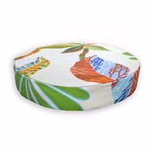 lf343r Beige Apple Green Yellow Orange Blue Cotton Canvas 3D Round Cushion Cover