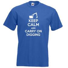 Keep Calm y llevar en el controlador de excavación Excavadora Jcb Para Hombre Para Mujer T-Shirt Idea de Regalo