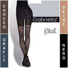* EDITH GABRIELLA * PATTERNED LADIES TIGHTS  * 50 DEN * 2/S - 4/L*
