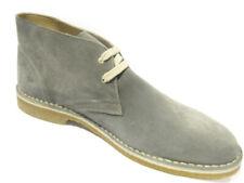Due Leoni 112 grigio uomo scarpa alta stringata modello clark scamosciata morbid