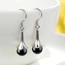 Agate Stone Tassel Earrings Ear Drop Women Fashion Jewelry 6A