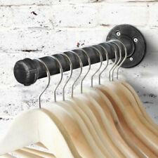 Durable Wall Storage Shelf Holder Brackets Book Shelving Iron Black Paint Pipe