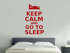 Keep calm and go to sleep wall sticker