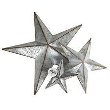 Metal Rustic Stars Galvanized Stars Christmas Decor Door Hangers