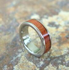 Hawaii Hawaiian Jewelry Wood Titanium Wedding Ring Band 6mm #TRD-1001-06