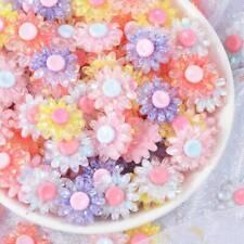 10pcs 18mm Resin Plastic Crystal Flowers Flatback Embellishments Decorations