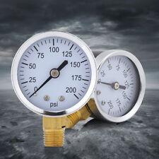 "Mini Pressure Gauge for Fuel Air Oil Liquid Water 1/4"" NPT Thread xi"