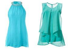 Sexy Top Tops Blusentop Shirt Damen Gr. 36 Aqua Mint