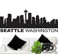 Car Tablet Vinyl Decal American City Skyline Seattle Washington Silhouette