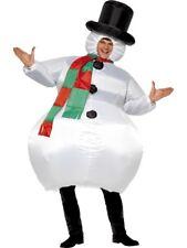 Nouveau Gonflable Bonhomme De Neige-Adulte Noël Drôle Fantaisie d'hiver Robe De Noël Costume