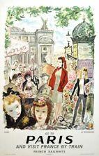 Vintage French Railways Paris Tourism Poster A3/A4