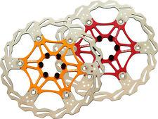 BRAKCO Bike Floating Disc Brake Rotor 180/203mm Red/Gold