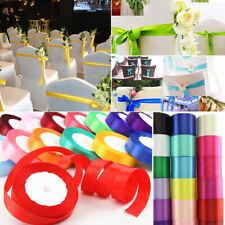 25 Yards Satin Ribbon Wedding Party Decoration Craft Sewing Many Colors Choice