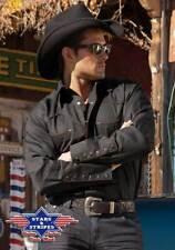 "Klassiches Westernhemd ""Jack"" Cowboy, Stars&Stripes Farbe rot/schwarz S-3XL"