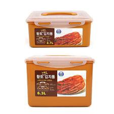 BPA Free Korean Red Clay HWANGTO Vacuum Airtight Kimchi Container 2.7L, 6.3L