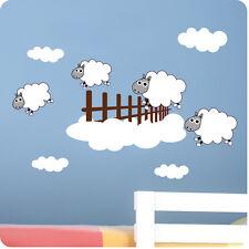 Childrens bedroom contando ovejas pegatinas de pared-Vinilo Baby Art Calcomanía decoración del hogar