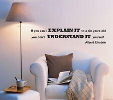 Wall Decal Inspirational Words of Wisdom Science Einstein Vinyl Sticker (ed1000)
