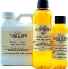 Jojoba Oil Golden Organic 100% pure. soap making supplies, massage oils.