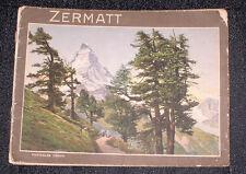 1910 PHOTO BROCHURE ZURICH SWITZERLAND MATTERHORN SWISS ALPS MOUNTAIN RANGE
