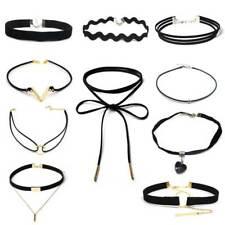 ZOEBER 10 PCS/Set New Gothic Tattoo Leather Choker Necklaces Set for Women Ho...