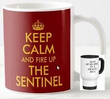 KEEP CALM AND FIRE UP THE SENTINEL gift MUG ≈ steam lorry waggon wagon bus mugs