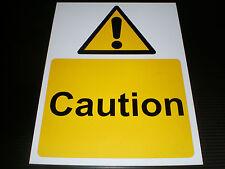 Caution Plastic Sign Or Sticker Choice Of Sizes Hazard Danger Warning Safety