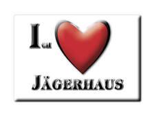 DEUTSCHLAND SOUVENIR BAYERN KÜHLSCHRANKMAGNET ICH LIEBE I LOVE JÄGERHAUS (BY)--