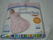 SUMMER by KIDDOPOTAMUS Small/Medium  SLUMBERSACK  Blanket Cotton 7-14 LB Pink