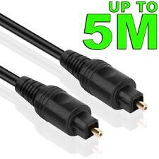 Premium Gold Toslink Optical Fibre Digital Audio Cable Lead Sound Cord S/PDIF