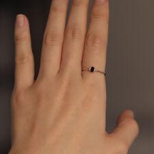 Solitaire Natural Black Diamond Ring Band 14K Gold Wedding Engagement Matching