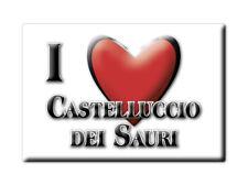 CALAMITA PUGLIA FRIDGE MAGNETE SOUVENIR I LOVE CASTELLUCCIO DEI SAURI (FG)