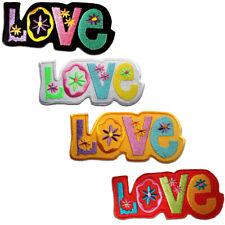 Toppe termoadesive - Love amore - diversi colori selezionabili - 11 x 8.5 cm - P